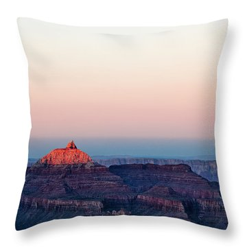Red Peak Throw Pillow by Dave Bowman