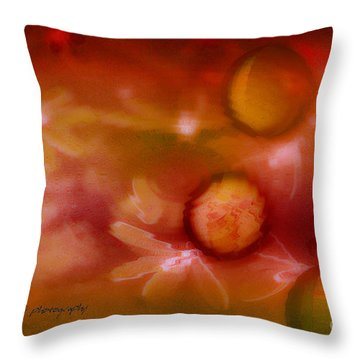 Red Pearl Dragon Fly Throw Pillow by Vicki Ferrari