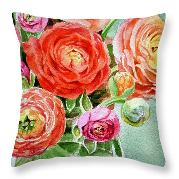 Red Pink And Gorgeous Throw Pillow