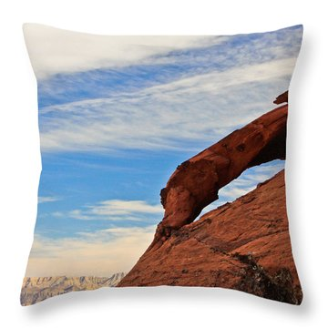 Red Rock  Throw Pillow by Kaye Seaboch