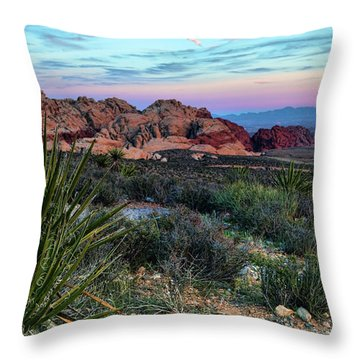 Red Rock Sunset II Throw Pillow by Rick Berk