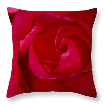 Red Rose Throw Pillow by Mark Gilman