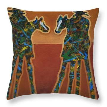 Red Sand Throw Pillow by Lance Headlee