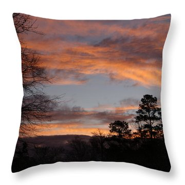 Throw Pillow featuring the photograph Red Sky At Dawn by Jean Haynes