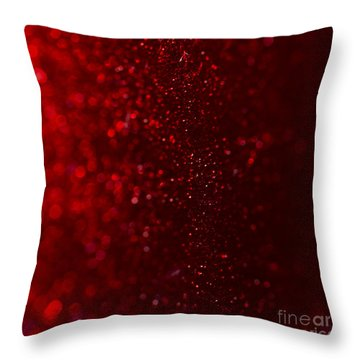 Red Sparkle Throw Pillow by Clare Bambers