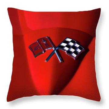 Red Stingray Badge Throw Pillow