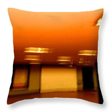 Throw Pillow featuring the photograph Red Subway by Andy Prendy