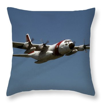 Red White And Blue Throw Pillow by Steven Sparks