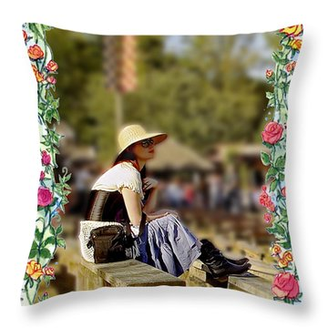 Redheaded Beauty Throw Pillow by Brian Wallace