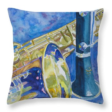 Reeds Between Sets Throw Pillow by Jenny Armitage