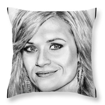 Reese Witherspoon In 2010 Throw Pillow by J McCombie