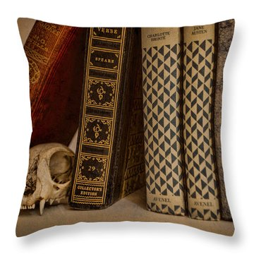 Reference Throw Pillow by Heather Applegate
