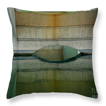 Throw Pillow featuring the photograph Reflected by Lin Haring