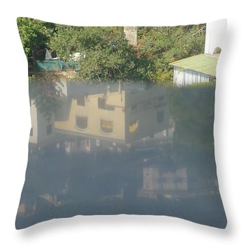 Throw Pillow featuring the photograph Reflected View by Nora Boghossian