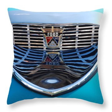 Throw Pillow featuring the photograph Reflecting Ford by John Schneider