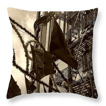 Reflecting In Little Italy Throw Pillow by Catie Canetti