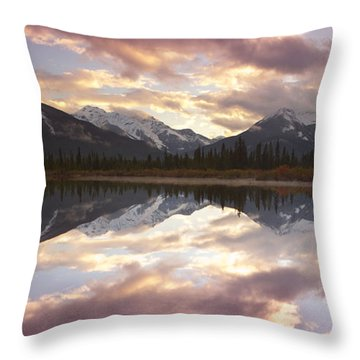 Reflecting Mountains Throw Pillow