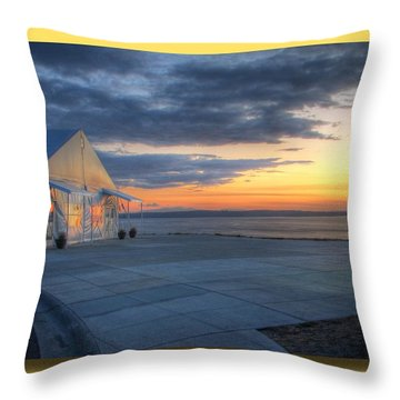 Throw Pillow featuring the photograph Reflecting Sunset - Chambers Bay Golf Course by Chris Anderson