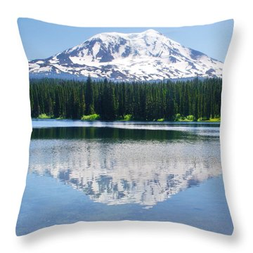 Reflection Of Adams Throw Pillow