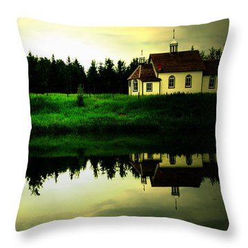Reflection Of Faith  Throw Pillow by Empty Wall