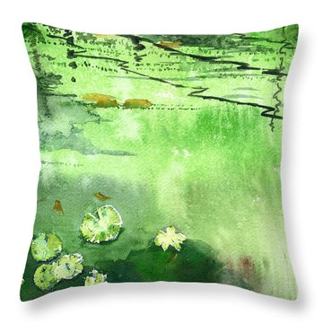 Reflections 1 Throw Pillow by Anil Nene