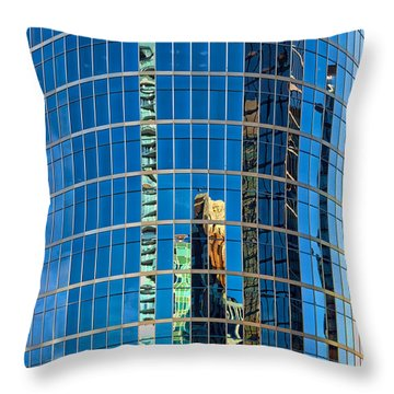 Reflections 3 Throw Pillow by Mauro Celotti