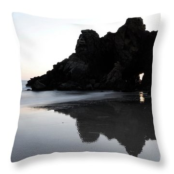 Reflections Big Sur Throw Pillow by Bob Christopher