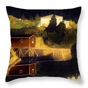 Reflections Golden Morning Throw Pillow by Barbara Griffin