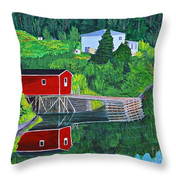Reflections H D R Throw Pillow by Barbara Griffin