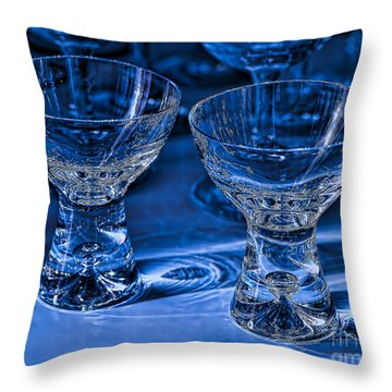 Reflections In Blue Throw Pillow