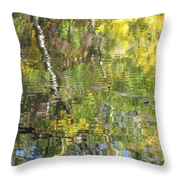 Reflections In Paradise 1 Throw Pillow by Anita Burgermeister