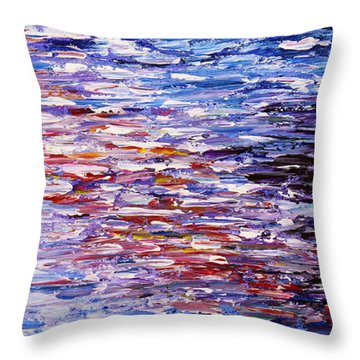 Throw Pillow featuring the painting Reflections by Kume Bryant