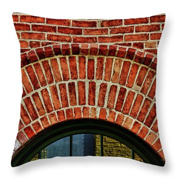 Throw Pillow featuring the photograph Reflections Of Paint by Rachel Cohen