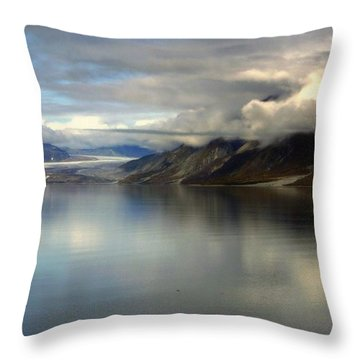 Reflections Of Stillness Throw Pillow by Karen Wiles