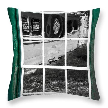 Reflections Of The Past Throw Pillow by Shannon Harrington