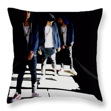 Reflections Of Xon Throw Pillow by Alfie Borg