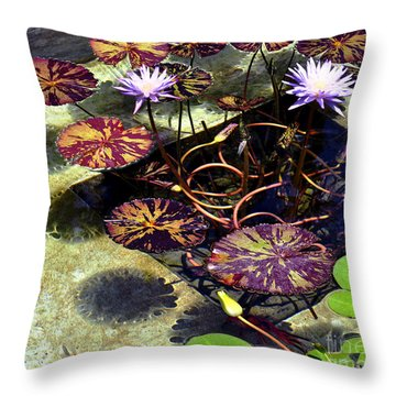 Throw Pillow featuring the photograph Reflections On Underwater Life by Clayton Bruster