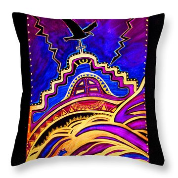 Throw Pillow featuring the painting Refuge At The End Of Time by Susanne Still