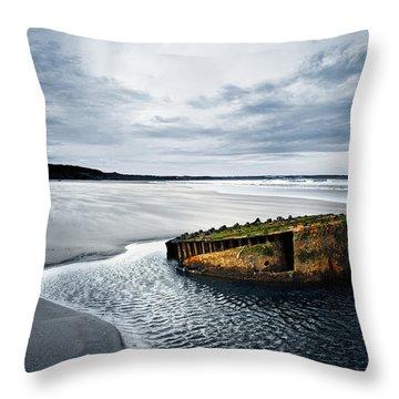 Reighton Sands Coast Throw Pillow by Svetlana Sewell