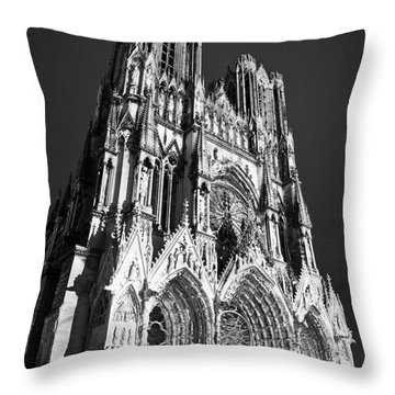 Reims Cathedral Throw Pillow