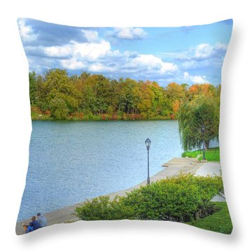 Throw Pillow featuring the photograph Relaxing At Hoyt Lake by Michael Frank Jr