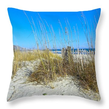 Throw Pillow featuring the photograph Relaxing By The Sea by Eve Spring