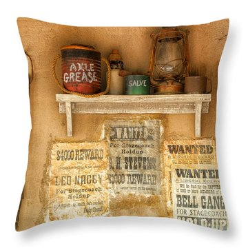 Relics Of The Old West Throw Pillow by Sandra Bronstein