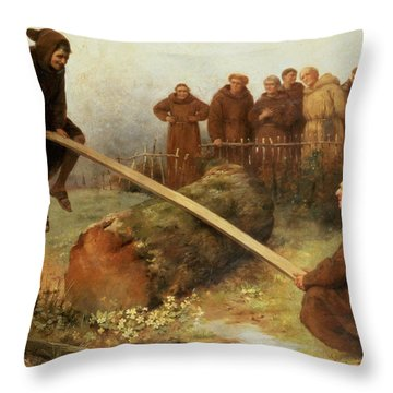 Religion Was Never Designed To Make Our Pleasure Less Throw Pillow by William Strutt