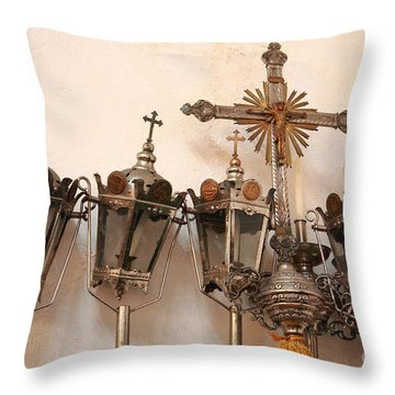 Religious Artifacts Throw Pillow by Gaspar Avila