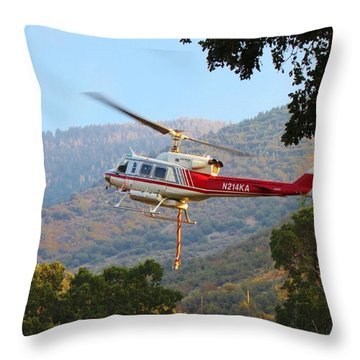 Reload Throw Pillow by Caroline Lomeli