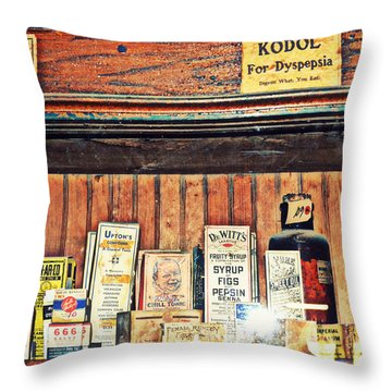 Remedies Throw Pillow