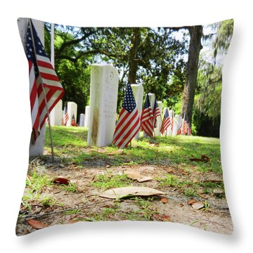 Throw Pillow featuring the photograph Remember The Sacrifice by Paul Mashburn