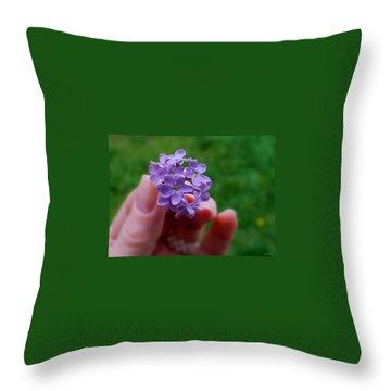 Throw Pillow featuring the photograph Make A Wish by Marija Djedovic