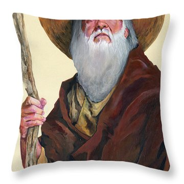 Remembering When Throw Pillow by J W Baker